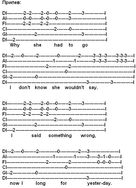 Припев http://a-v-kobizskiy.narod.ru/guitar-lesson/YesterdayTabPripev.jpg